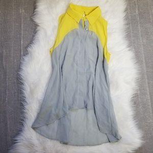 🖤 SALE 5/$20 🖤 B jewel yellow / grey button down